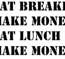 My Perfect Day: Make Money - Black Text Sticker