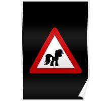Pony Traffic Sign - Triangular Poster