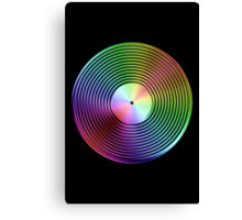 Vinyl LP Record - Metallic - Rainbow Canvas Print