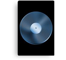 Vinyl LP Record - Metallic - Blue Canvas Print