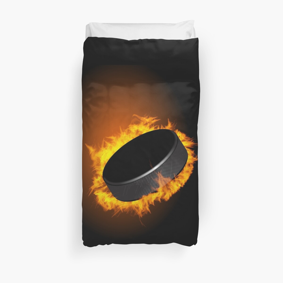 Burning Hockey Puck  iPhone 5 / iPhone 4 Case  / Samsung Galaxy Cases / Pillow / Tote Bag  / Duvet by CroDesign