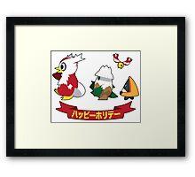 Happy Pokémon Holidays! Framed Print
