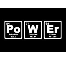 Power - Periodic Table Photographic Print