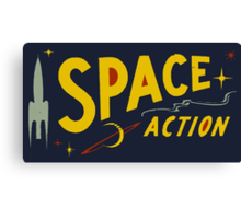 Wilde & Sweet - Space Action! Canvas Print