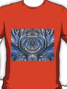 Mandala in Blue and Gold T-Shirt
