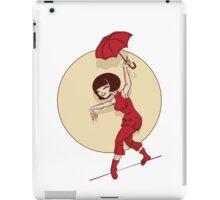 Pinup  illustration of young woman funambulist iPad Case/Skin