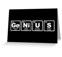 Genius - Periodic Table Greeting Card