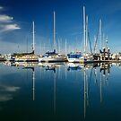 Calm Masts by James Eddy