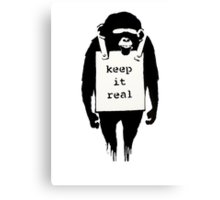 Banksy Keep it Real Canvas Print