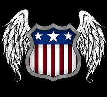 Winged American Shield (Black) by Sadguru