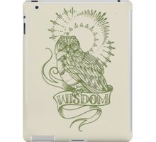 wisdom owl tattoo shirt iPad Case/Skin