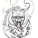 twice cursed werewolf line art by resonanteye