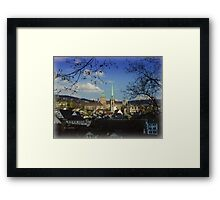 A City and a Home Framed Print