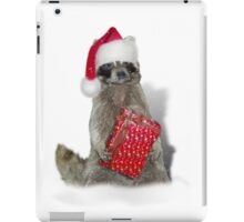 Christmas Bandit Raccoon  iPad Case/Skin