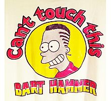 CAN'T TOUCH THIS--MC BARTHAMMER Photographic Print