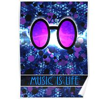 Vinyl Scratch - Music is Life Poster