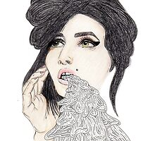 Amy Winehouse by greyhoundredux