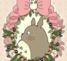 Christmas Totoro by MikazukiMoon