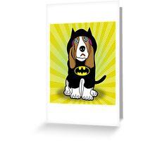 batman dog  Greeting Card