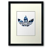 Adidas Trefoil Original Blue Camo Framed Print