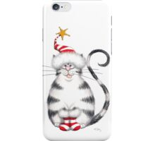 Kazart Fat Cat Xmas Star iPhone Case/Skin