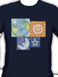 Earth Sun Moon Star T-Shirt