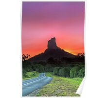 The Road to Mt Coonowrin - Glasshouse Mountains Qld Australia Poster