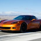Corvette on Airstrip  by Timothy  Iverson Auto Photography