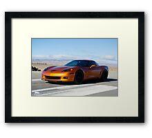 Corvette on Airstrip  Framed Print