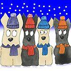 Scottie Dogs 'Let It Snow' by archyscottie