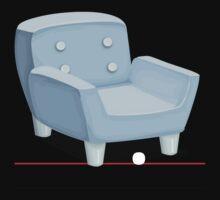 Glitch furniture armchair powdered blue armchair by wetdryvac