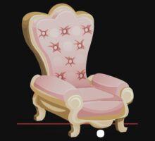 Glitch furniture armchair royal pink armchair by wetdryvac