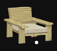 Glitch furniture armchair white hand armchair by wetdryvac