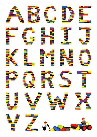 Alphabet in Lego by Addison