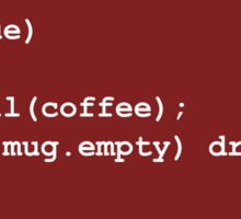 Code for Mug Use - Coffee Sticker