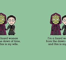 Madame Vastra and Jenny (mug) by redscharlach