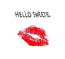 Hello Sweetie Kiss Kiss Photographic Print