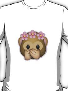 Emoji Monkey Flower Crown Edit T-Shirt
