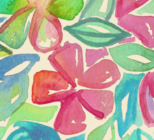 Tropical Floral Watercolor Painting Sticker