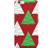 Red & Green Christmas Trees iPhone Case/Skin