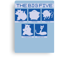 The Big Five (Dragonair) Canvas Print