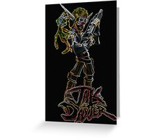 Jak and Daxter Glow Design Greeting Card