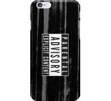 Parental Advisory Label [CLEAN] iPhone Case/Skin