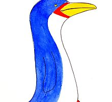 Cool blue penguin by MagsArt