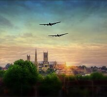 Lancaster Flyby Lincoln Cathedral by UKGh0sT