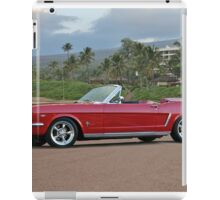 1966 Ford Mustang Convertible iPad Case/Skin