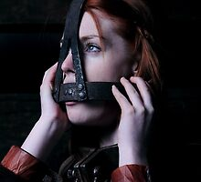 Fi Stevens in the Scolds Bridle and Shackles by shackledmaidens