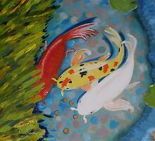 Good Luck Koi, San Francisco by Lynn Ahern Mitchell