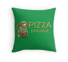 Pizza in Banana Throw Pillow