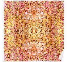 Golden-Rose Symmetrical Abstractive Dream Poster